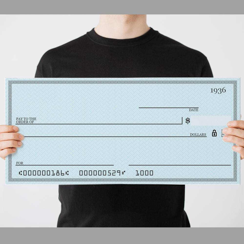 oversized check template - giant check template the blank bank check template is a