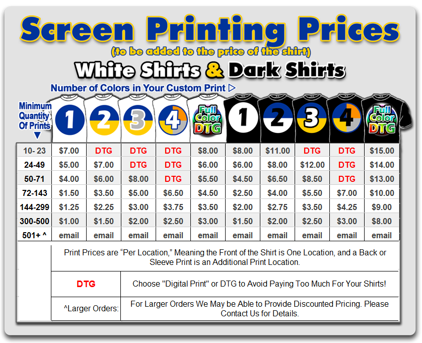 Custom-Screen-Printing-price-list
