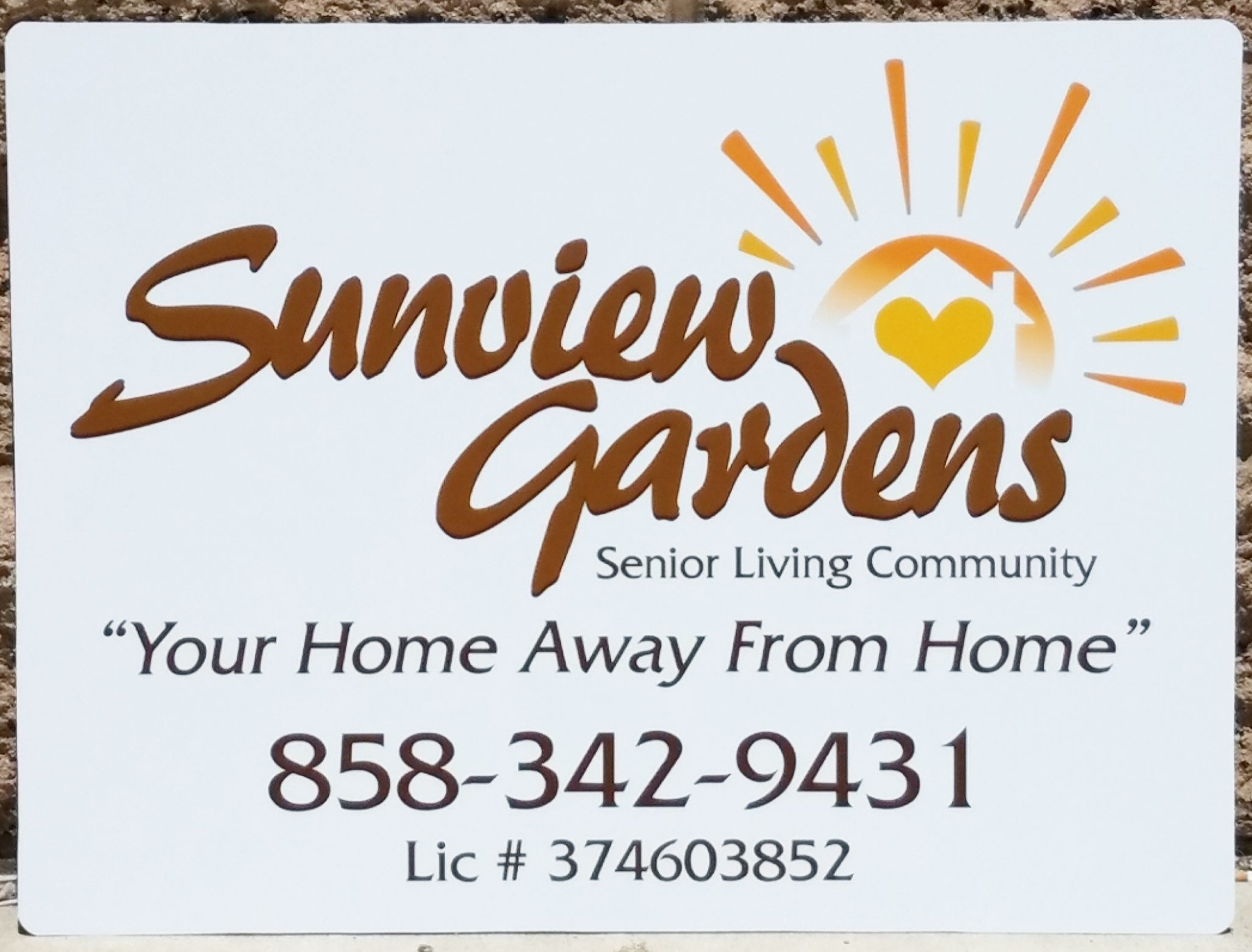 Sunview Gardens Sign
