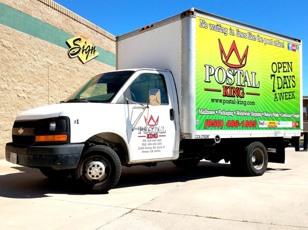 Postal King Box Truck Wrap | Poway San Diego Signs, Banners